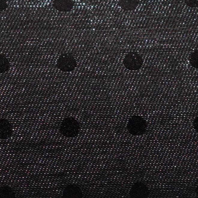 西陣織シルク×艶やかナイロン・山型眼鏡ケース・水玉・スパークリングブラック・生地拡大